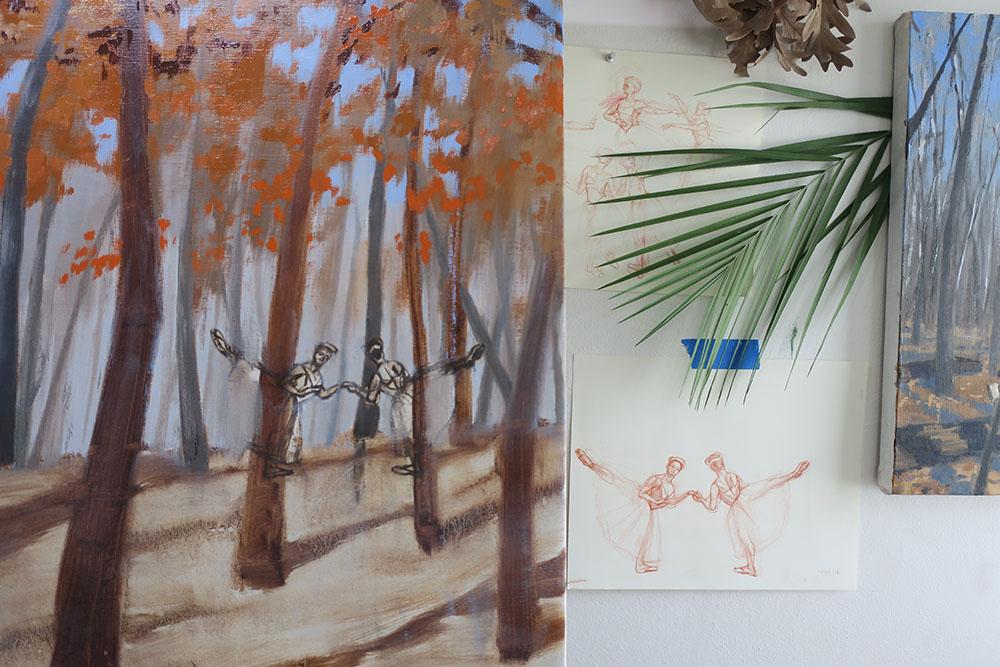 Fitzsimmons, Autumn Studio work (paired sylphs). 2020.