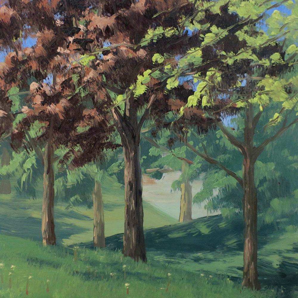 King Park. Oil on panel, 12x12. 2020.