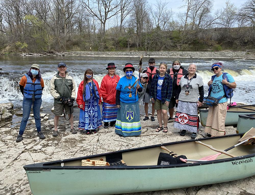The group at Estabrook Falls.