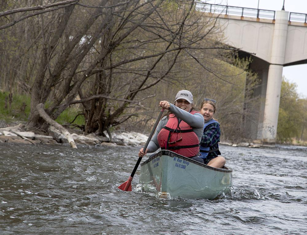 Jessica Wineberg and Cheryl Nenn hit the rapids.