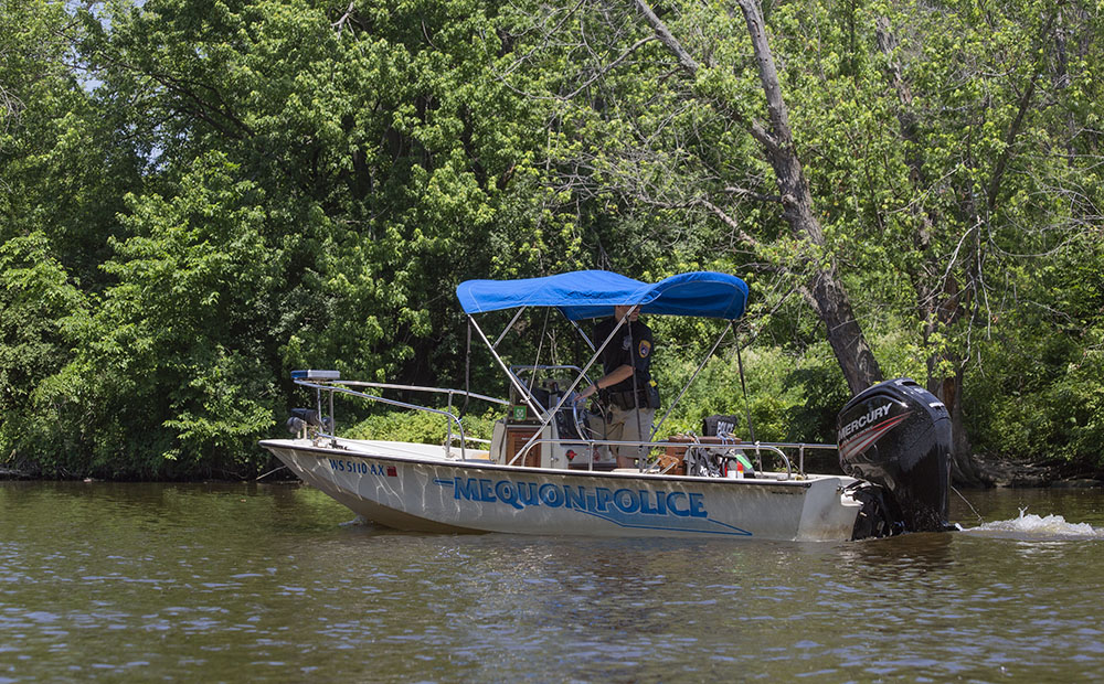 The river is patrolled by the City of Mequon police department.