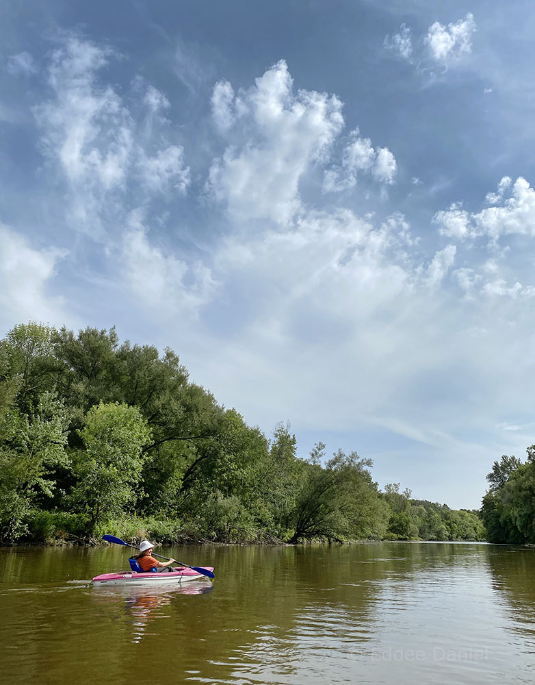 Kayaking the Milwaukee Urban Water Trail in the heart of the Greenway where the city vanishes.