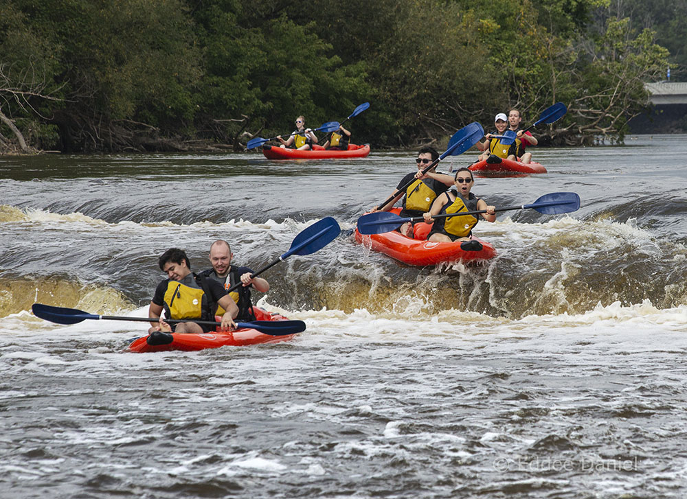 Rafters negotiate the Estabrook Falls