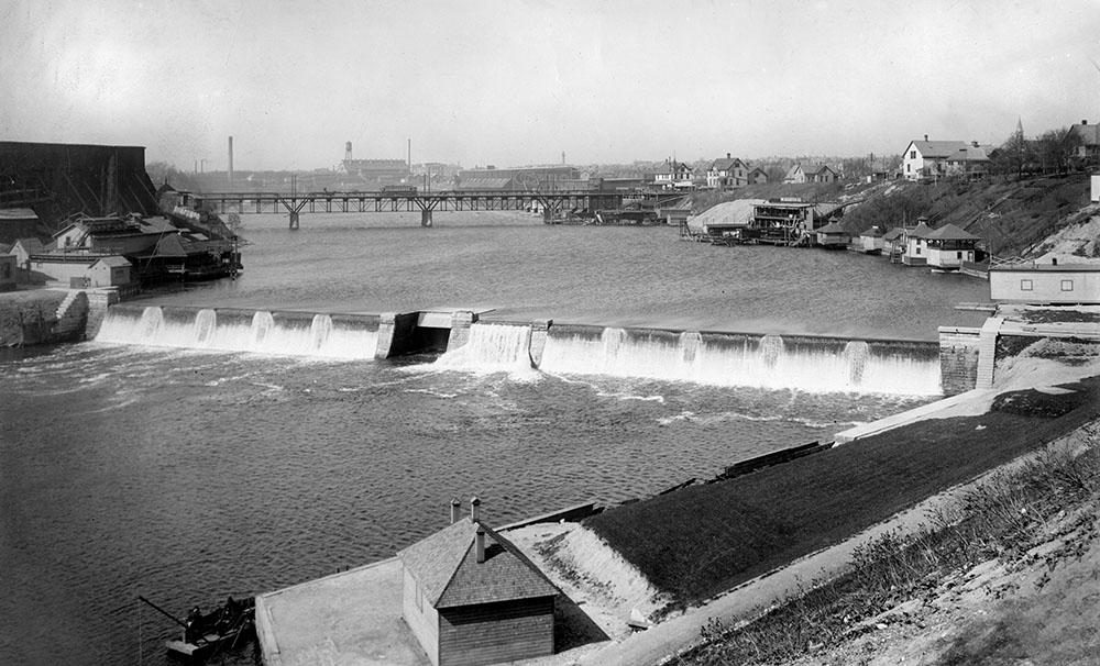 Historic view of North Avenue Dam.