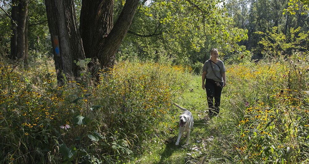 Artist in Residence Jaymee Willms at Schoofs Preserve