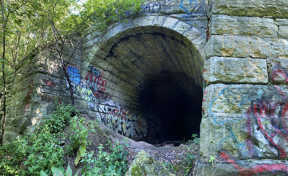 """The """"Tunnel to Nowhere"""" in Cambridge Woods."""