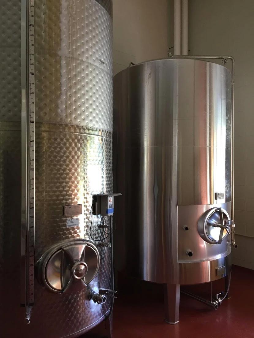 silver cider stills in the Wyile Cider Barn