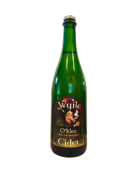 bottle of sparkling dry hard cider from Wyile Cider