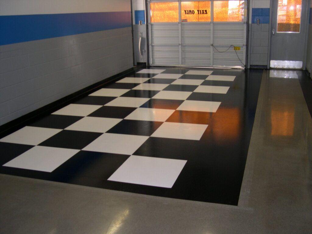 Checkered Garage Flooring