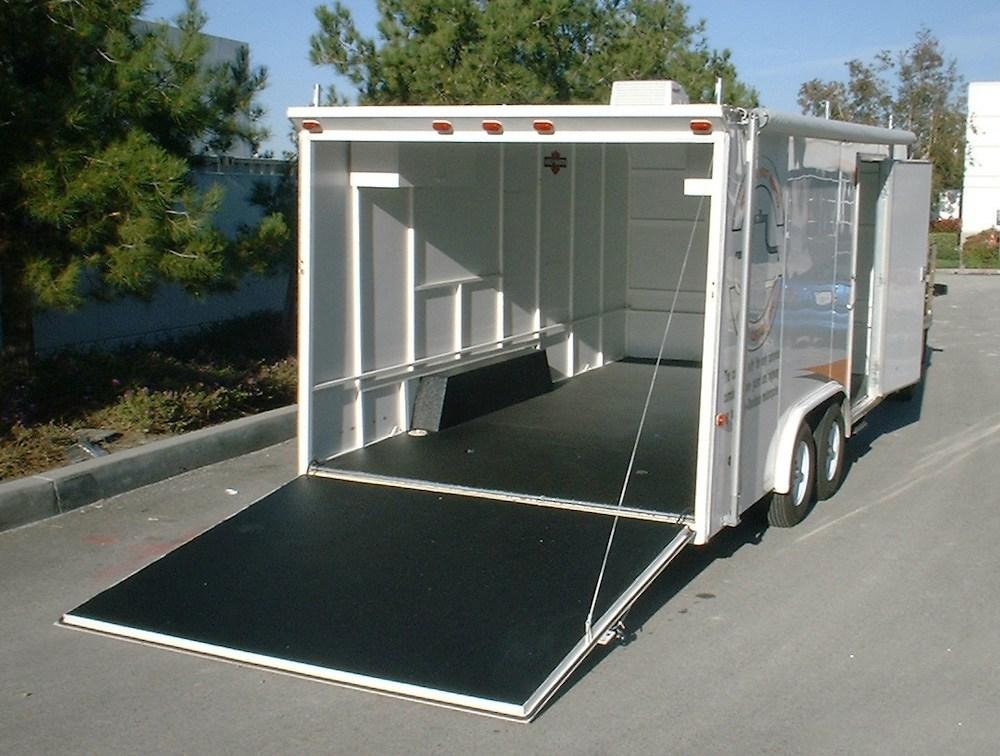 Vortex Sprayliner applied to an enclosed trailer