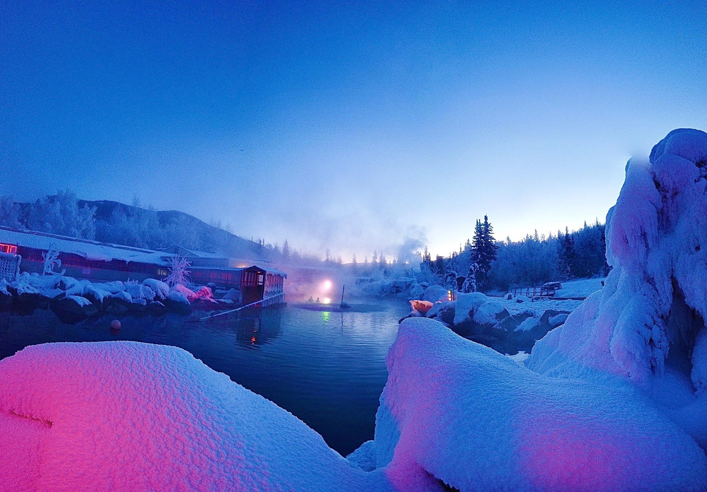 Hot Springs Aurora Viewing Dream