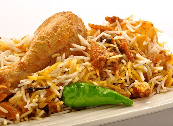 Silver Spoon's Chicken biryani with spices. A treat of class