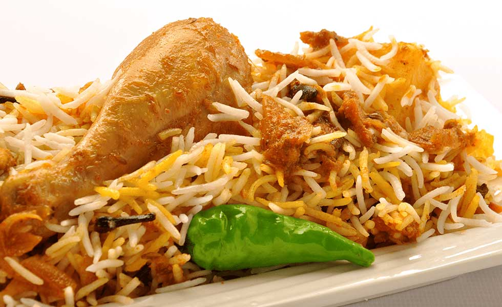 Silver spoon's speciality dish, Chicken Biryani.