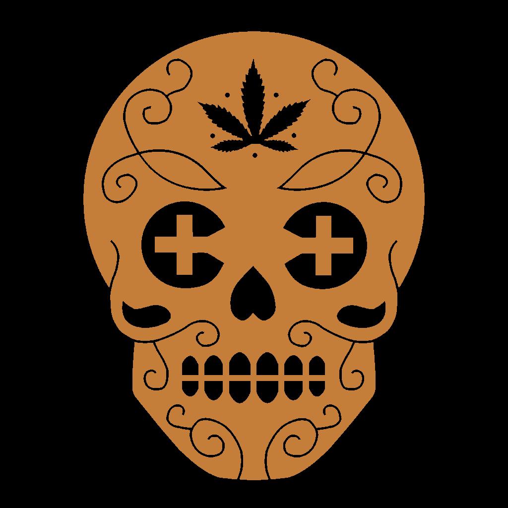 Canamo Gold Skull Logo