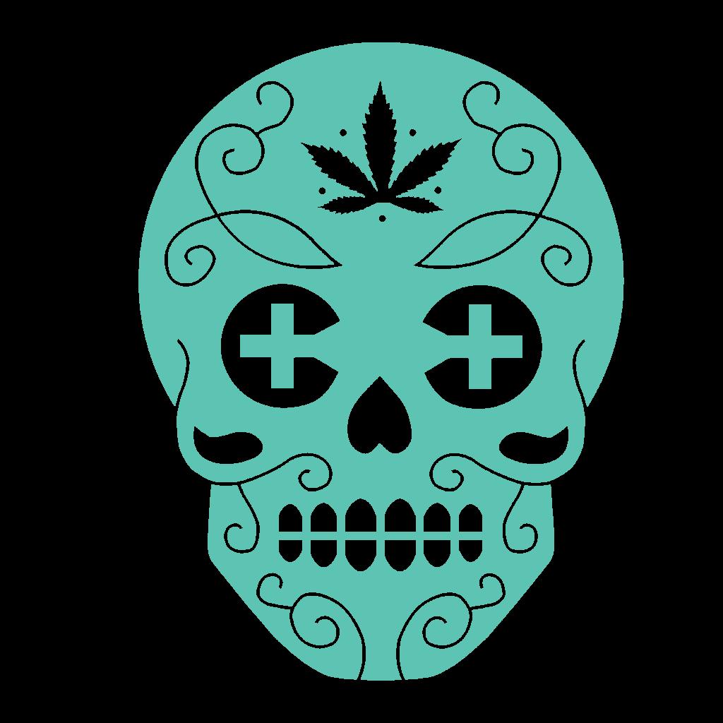 Canamo Blue Skull Logo