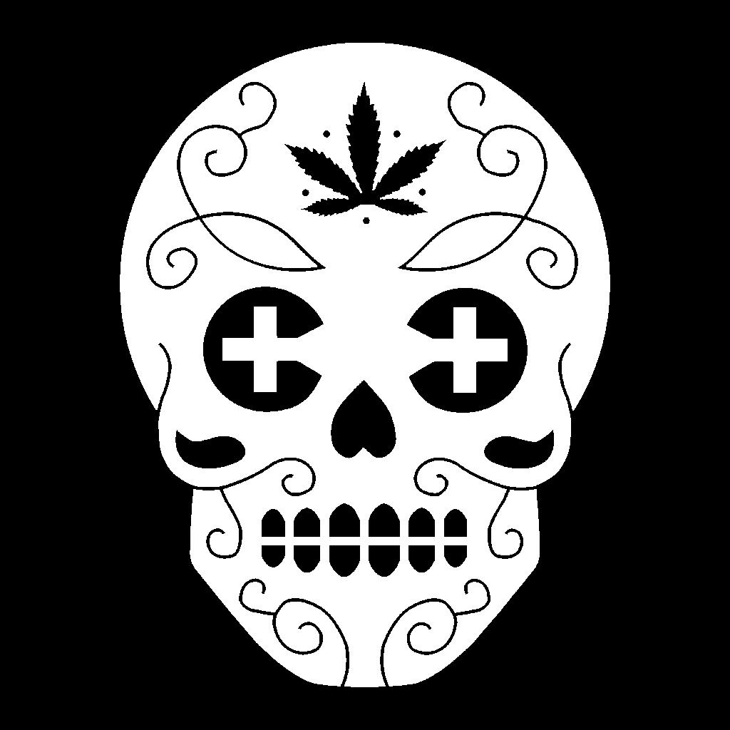 Canamo White Skull Logo