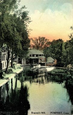 Brayton Grist Mill Postcard