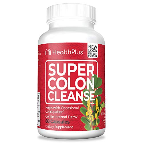 Health Plus Super Colon Cleanse: 10-Day Cleanse -Detox   More than 1 Cleanse, 60 Count (Pack of 1)