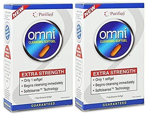 Omni Cleansing Softgel – Extra Strength Cleansing Immediately, 1 Fast Dissolve Softgel,(Puri-Clean)