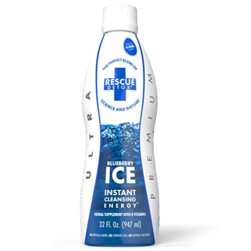 Rescue Detox – ICE – Blueberry Flavor – 32oz | Works in 90 Minutes Up to 5 Hours – Concentrated Cleansing Drink with B Vitamins and Naturally Sweetened with Stevia