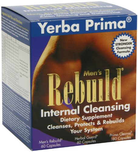 Yerba Prima Men?s Rebuild? Internal Cleansing System Box, 60 Capsules