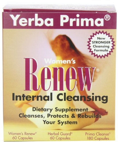 Yerba Prima Women's Renew Internal Cleansing, 60 capsules each of Renew, herbal Guard and 180 Capsules of Prima Cleanse