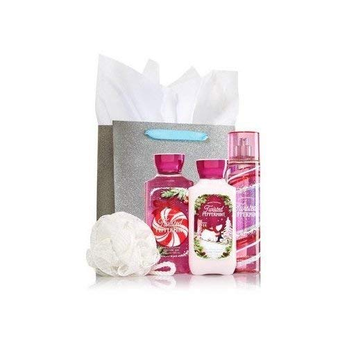 Bath & Body Works TWISTED PEPPERMINT The Daily Trio Gift Set Full Size – Body Lotion – Shower Gel and Fragrance Mist