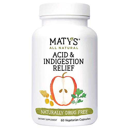 Maty's All Natural Acid & Indigestion Relief – Natural Heartburn Relief Made with Ginger & Turmeric– Liquid, 6 fl oz Visit the Matys Store