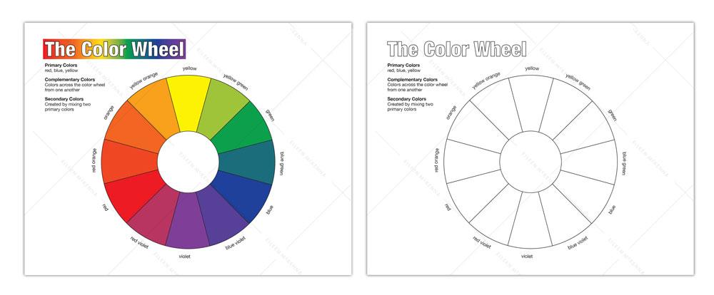 Color Wheel worksheet | Homeschool Art Lesson
