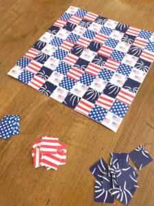 Patriotic USA Paper Quilt Printable Craft Kit