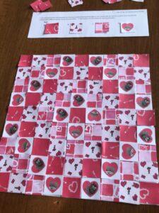 Valentine's Day Paper Quilt Printable Craft Kit