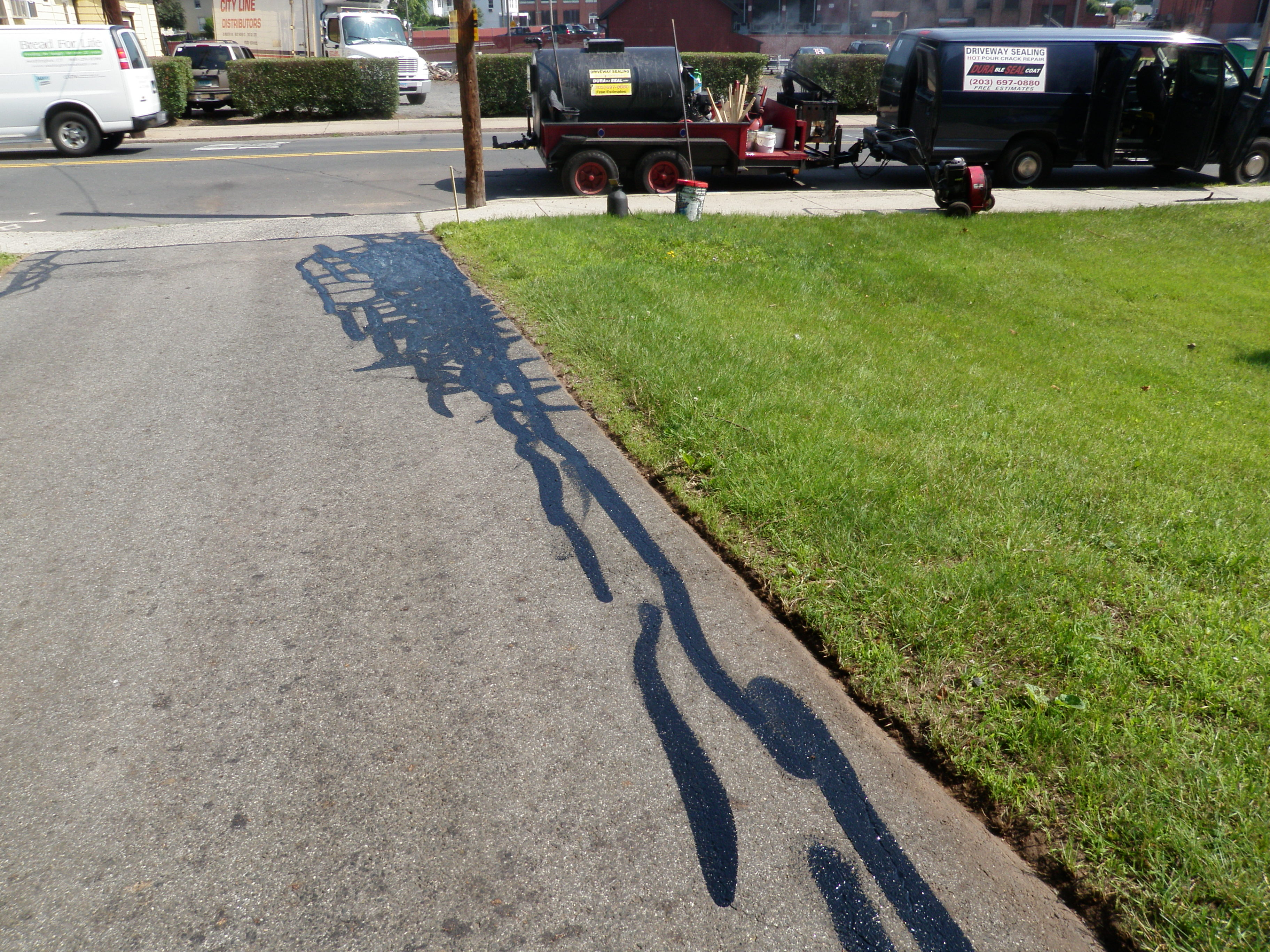 Crack Sealing Process for Driveway