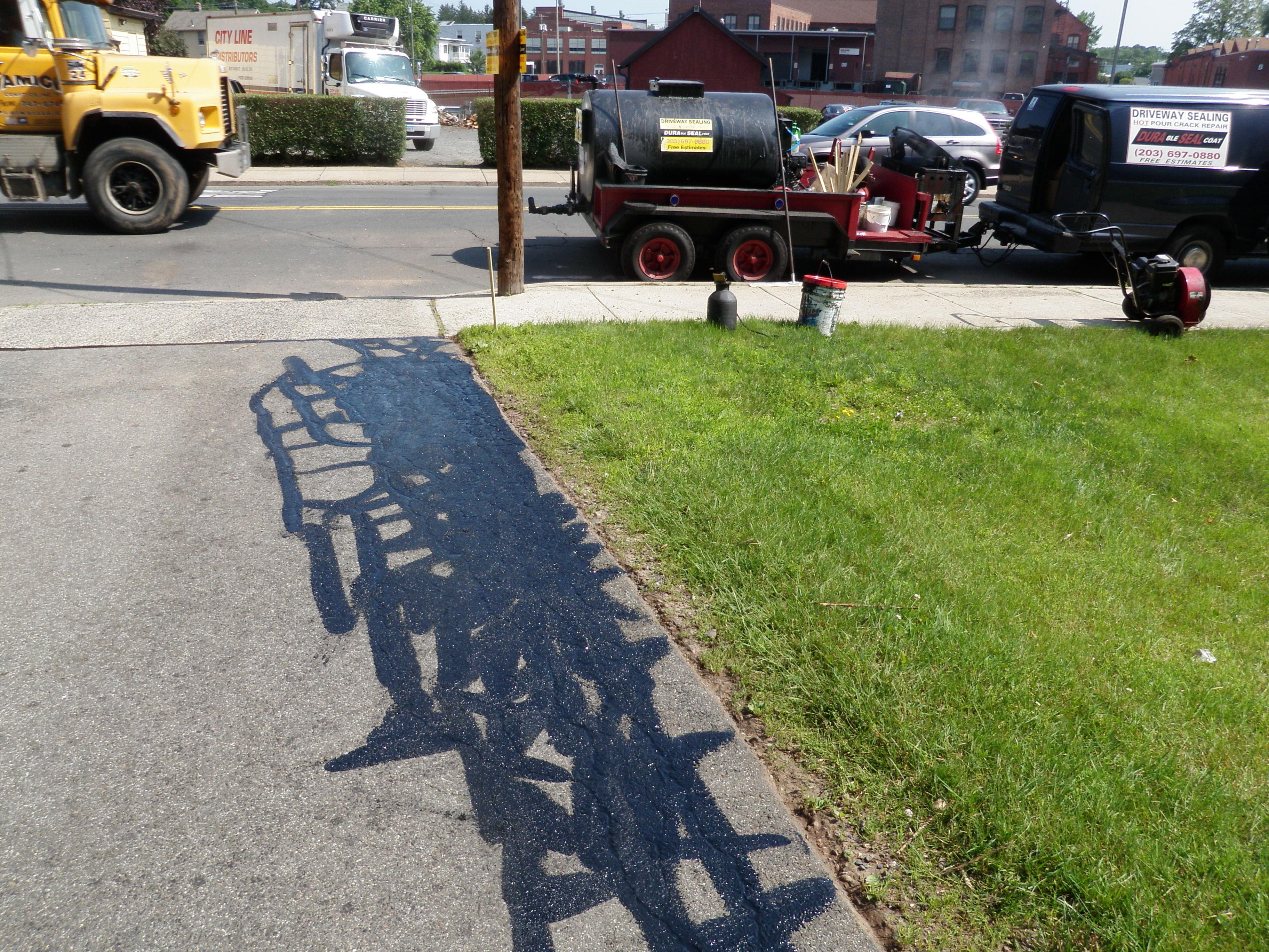 Black Beauty Driveway Crack Repair 3
