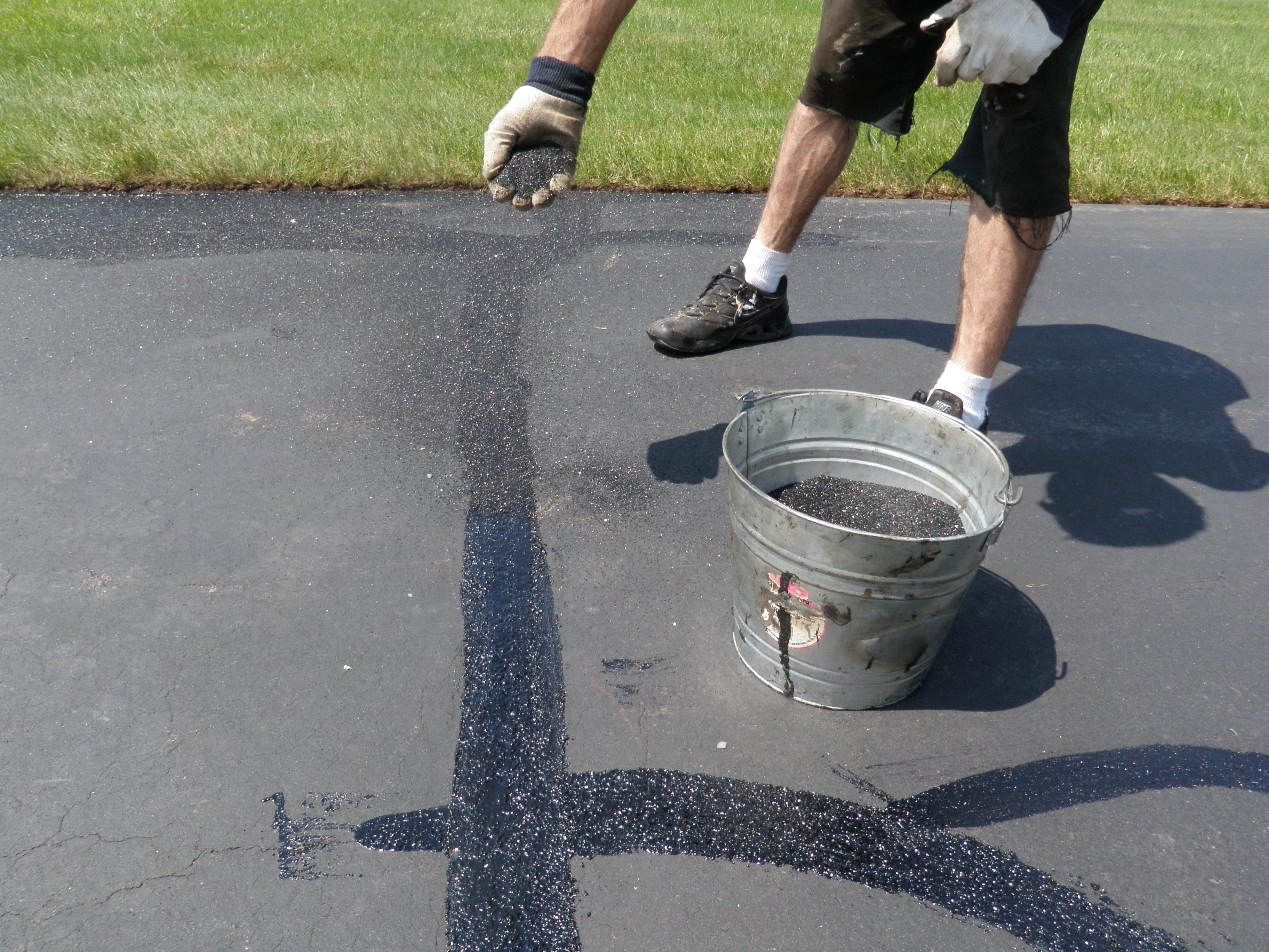 Black Beauty Driveway Crack Repair 2