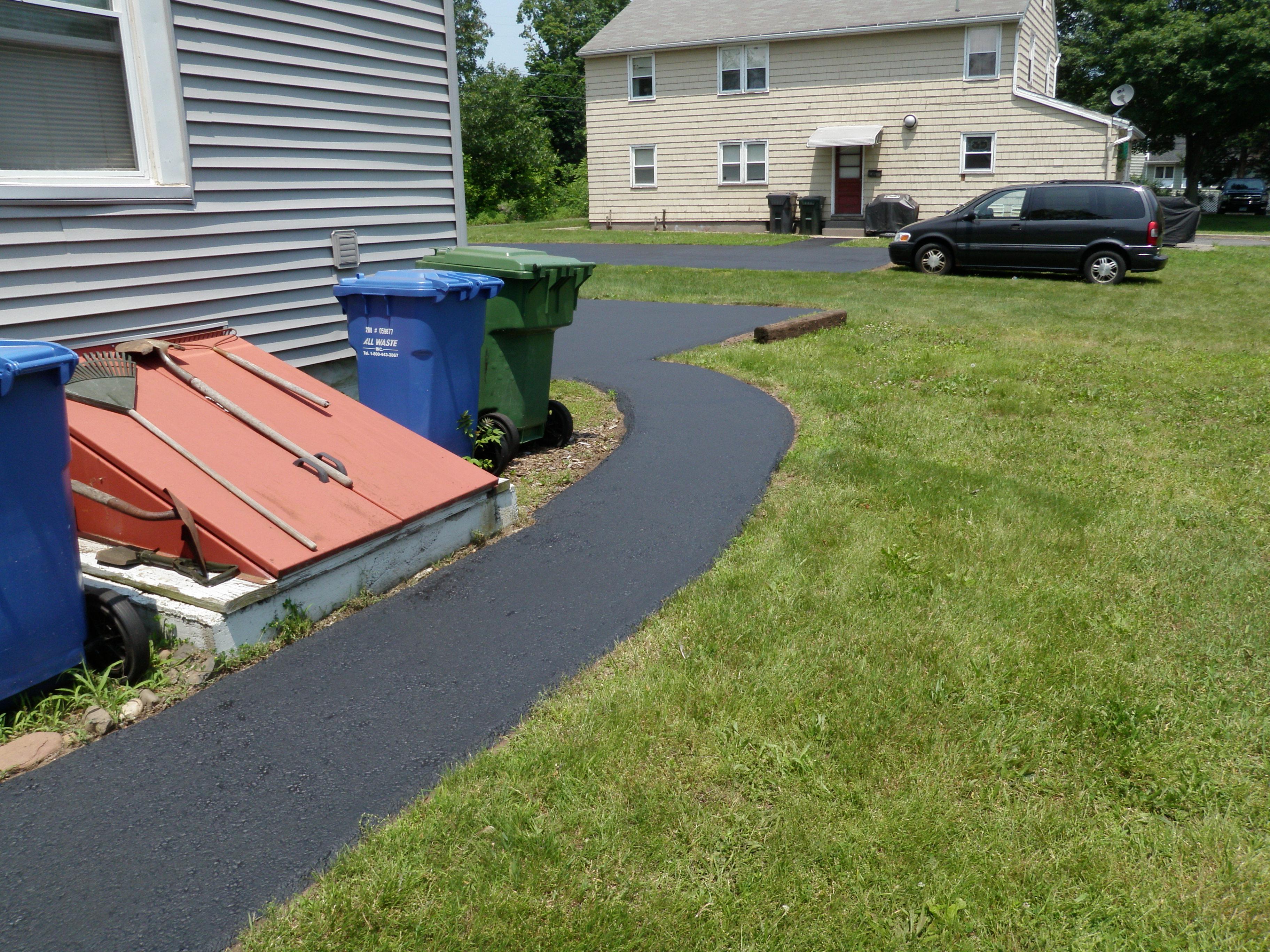 Sidewalk on Side of House Sealed