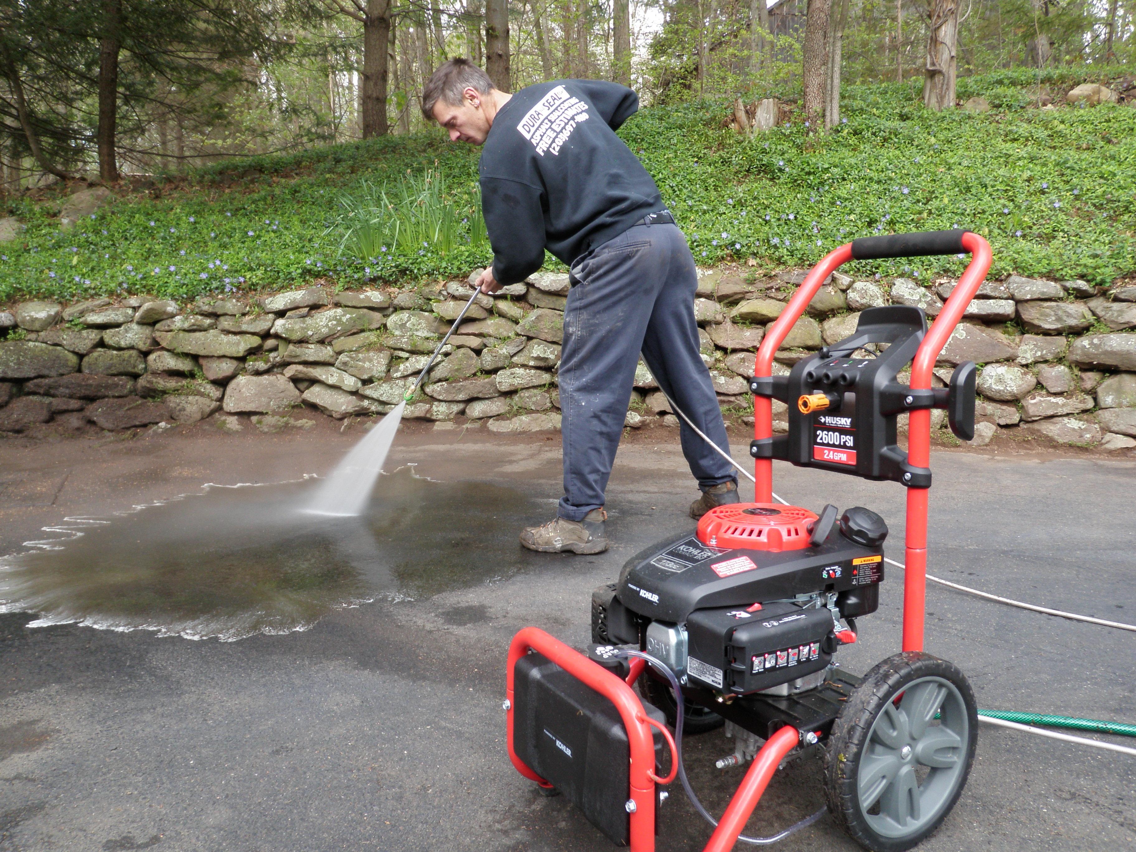 Pressure Washing Driveway Preparartion for Sealing