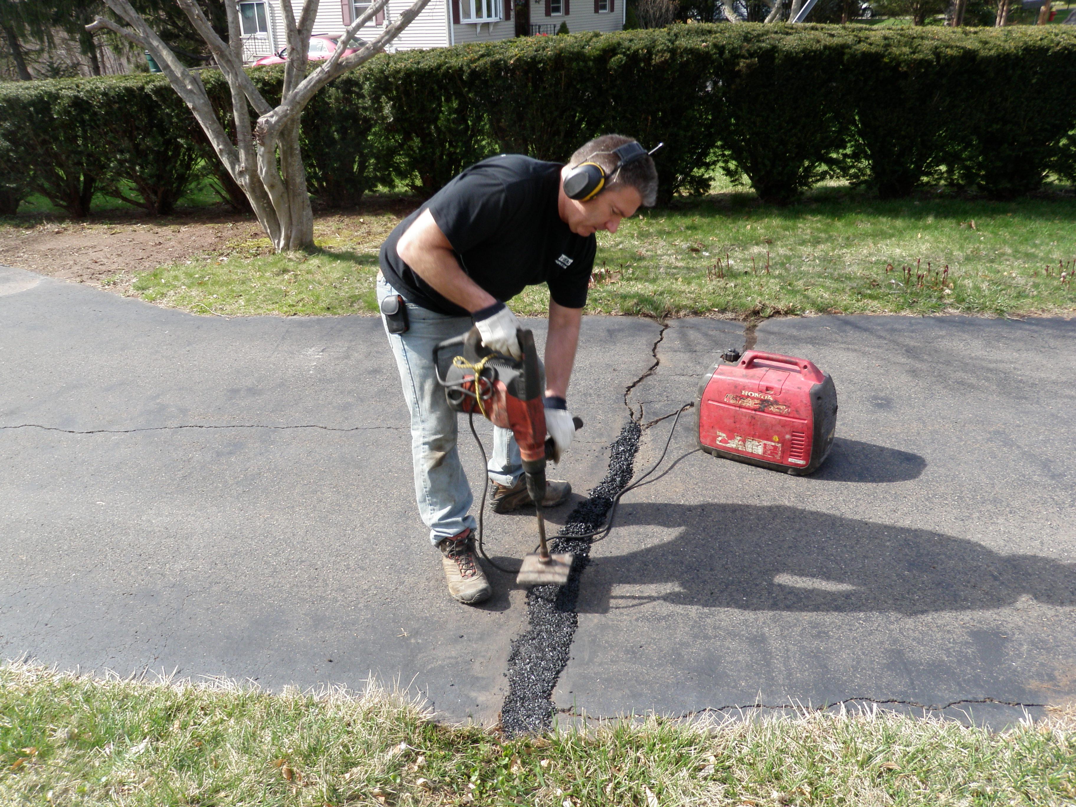Large Crack Repair with Tamper