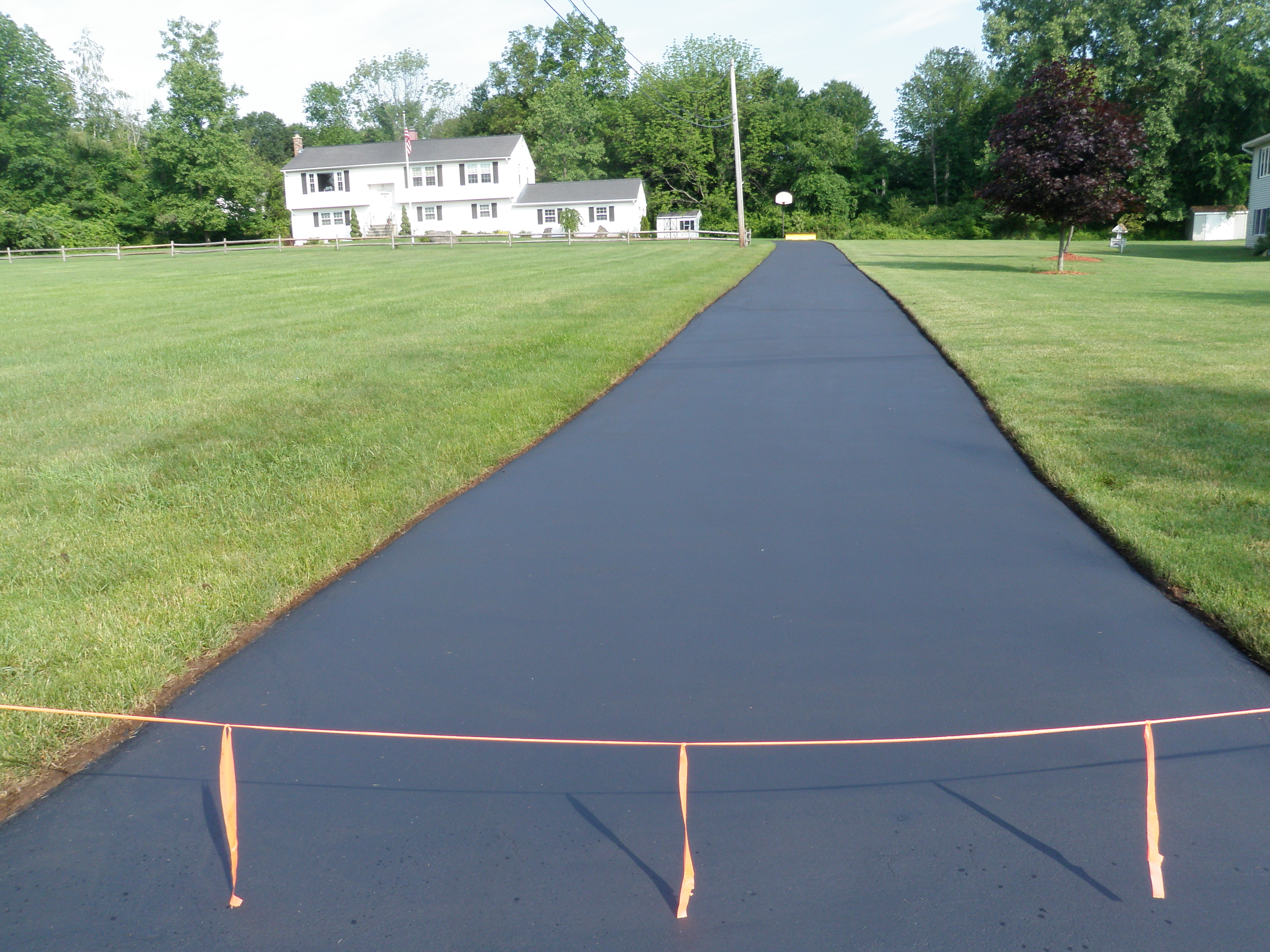 Very Long Driveway with Sealant