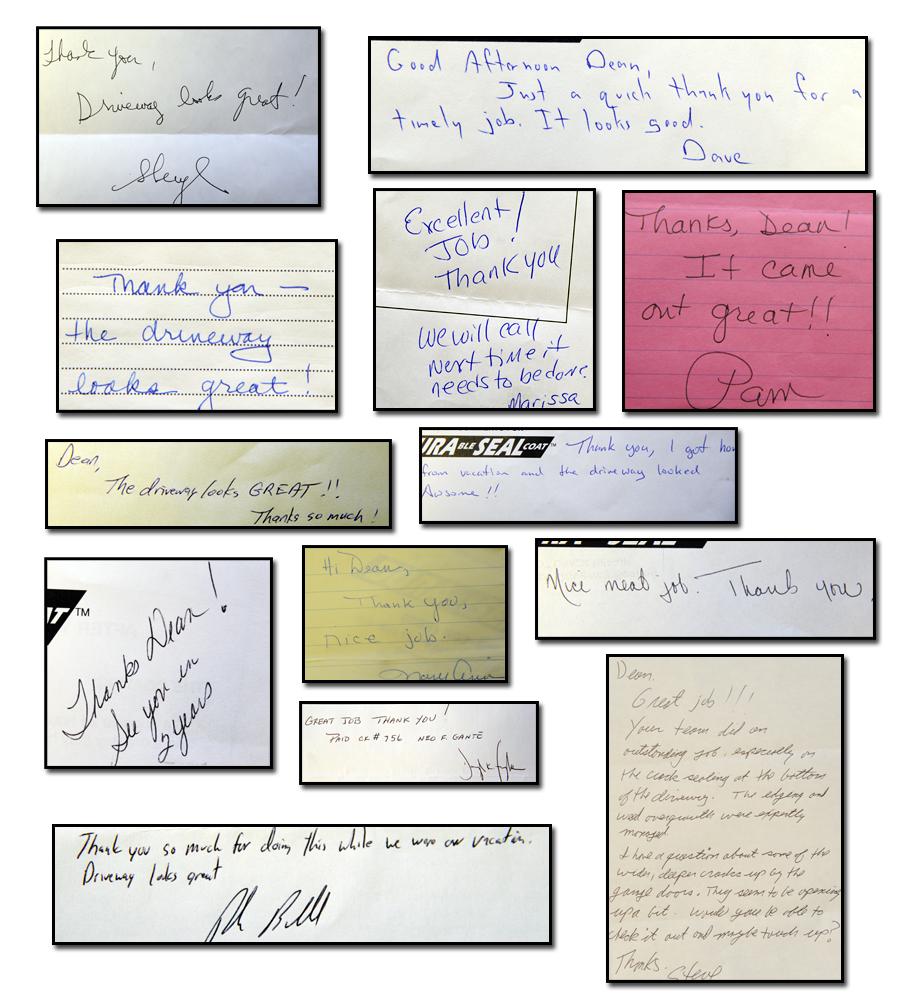 Driveway Sealing Testimonials 12