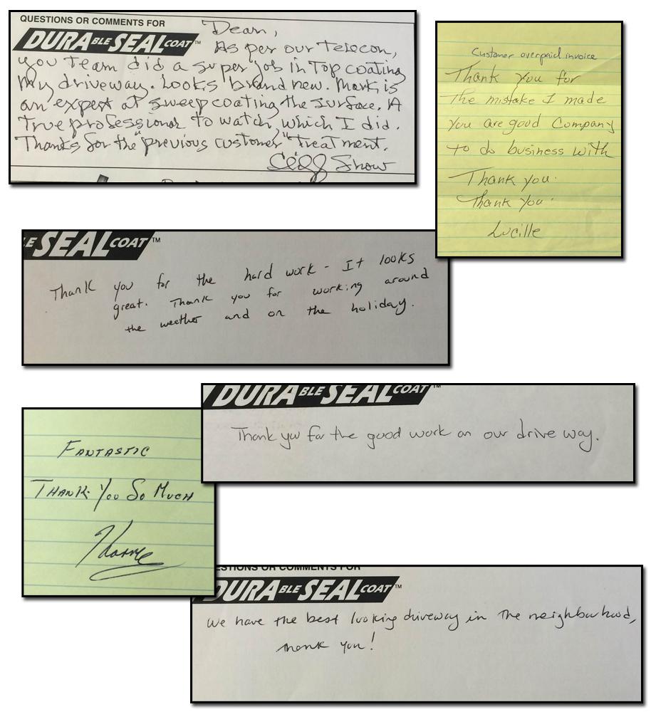 Driveway Sealing Testimonials 16
