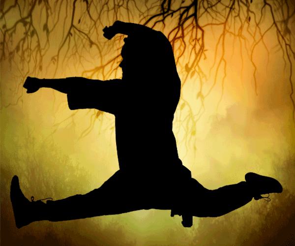 Tumbling and Stretching at Shadow Fist Kung Fu and Tai Chi