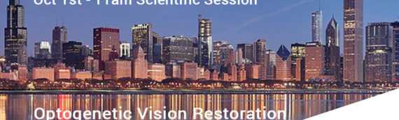 Positive Data of Optogenetic Gene Therapy for Patients Blinded by Retinitis Pigmentosa to be Presented at Retina Society's Annual Conference