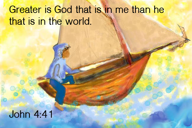 Greater is God that is in me!