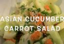 Asian Cucumber Carrot Salad