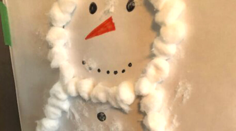 Cotton Ball Snowman Activity Excellent for Kids