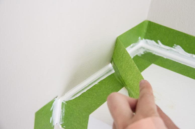 Como conseguir un borde perfecto con cinta de pintor