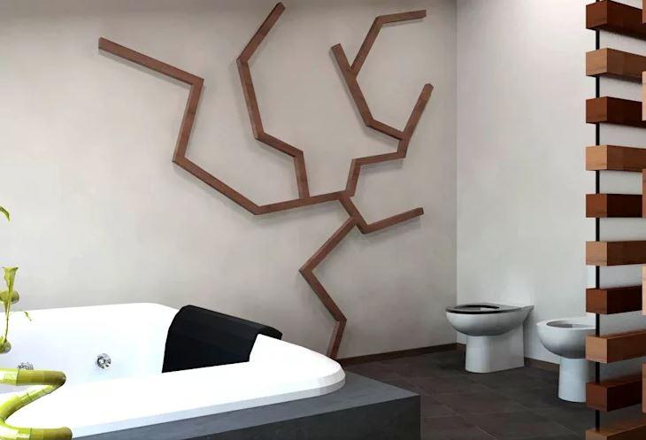 Diseños únicos de madera para el baño