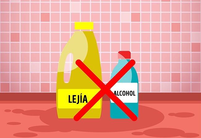 Lejía con alcohol en gel
