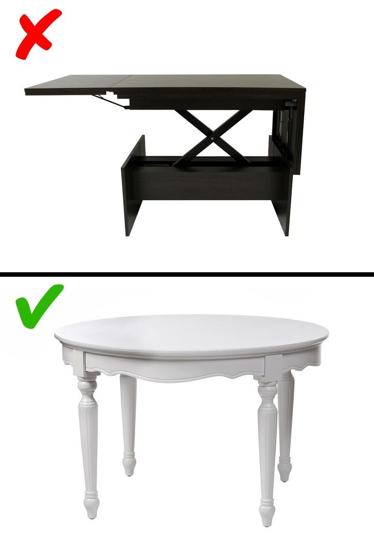 Mesas desplegables en la sala de estar