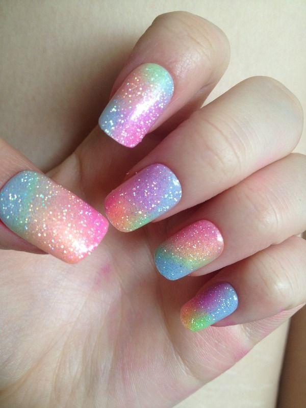 Arcoiris en tus uñas